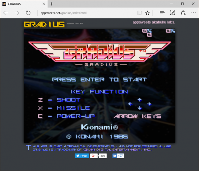 gradius-on-edge
